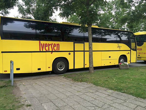 The Lovely Yellow Bus that took us to our concerts around Ribe