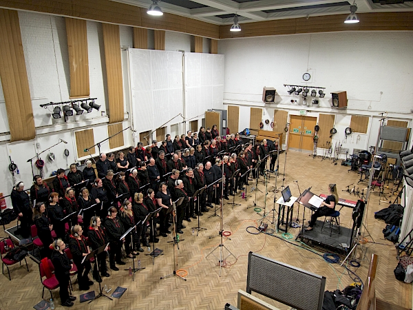 Sing! Choirs at Abbey Road Studios on outside steps